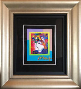 Peter Max Blushing Beauty On Blends Acrylic And Mixed Media On Lithograph Sig