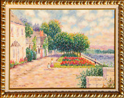 Diane Monet, Roche-guyan, Oil On Canvas, Signed