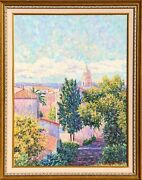 Diane Monet, Late Day In St. Tropez, Oil On Canvas, Signed