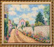 Diane Monet, Peaceful Stroll, Oil On Canvas, Signed