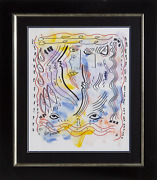 William Verdult Eyes Of Love Mixed Media On Paper Signed Lower Left