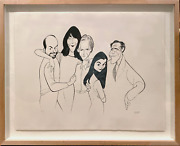 Al Hirschfeld Just Shoot Me Cast Lithograph Signed And Numbered In Pencil
