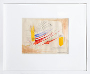 Rolph Scarlett Primary Abstract Watercolor On Paper Signed L.r.