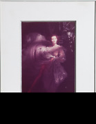 Rebecca Blake Model In Organza Gown Color Photograph Signed And Dated L.r.
