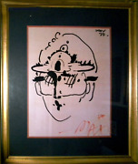Peter Max Zero Poster Signed And Dated In Marker