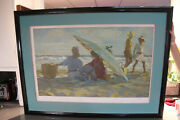 Don Hatfield Under The Umbrella Serigraph On Paper Signed Numbered No Glass