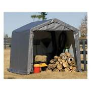 New 10x10x8 Portable Garage Shed Canopy Car Atv Motorcycle Tractor Portable