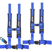 Prp 4 Point 2 Blue 2 Pack Harness With Auto Style Buckle Latch Sxs Utv Rzr X3
