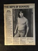 Matt Dillon Pinup Clipping From Magazine 80s Shirtless Tight Jeans