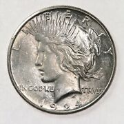 Raw 1924-s Peace 1 Uncertified Ungraded San Francisco Mint Silver Dollar Coin