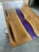 Bespoke Epoxy Resin River Dining Table Top. Food Safe Resin Used