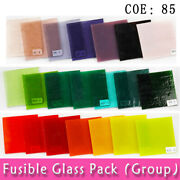 3mm Thickness Coe85 Square Transparent Mixed Colour Fusing Glass Diy Material