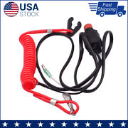 6e9-82575-09 Kill Stop Switch Safety Lanyard For Yamaha Outboard Motor 15-40hp