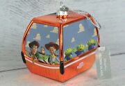 Disney Parks New Skyliner Glass Ornament Toy Story Woody Buzz Lightyear Sold Out