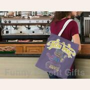Little Bear Adjectives Artwork On Canvas Merchant Tote Bags With Custom Logo