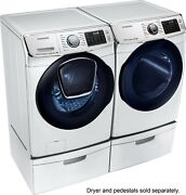 Samsung Wf50k7500aw Washer And Dv50k7500ew Electric Dryer White Side-by-side