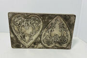"""Vintage Chocolate Mold Two Hearts Mold Anton Reiche 7 1/2""""x 4 1/2"""""""