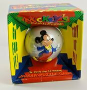 Mickey's Challenge 3d Rotating Jigsaw Puzzle Game 1993 Donald Duck Vintage 90's