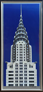 Richard Haas Chrysler Building Lithograph And Screenprint On Aluminum Signed