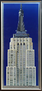 Richard Haas Empire State Building Lithograph And Screenprint On Aluminum Sig