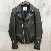 The Real Mccoyand039s Lewis Leathers Collaboration Riders Jacket Black Deerskin Japan