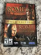 Rome Total War Gold Edition Pc Dvd-rom 5 Discs And 2 Manuals