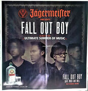 Jagermeister Fall Out Boy Banner Poster Save Rock And Roll Summer Tour 2014
