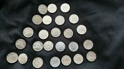 25 Different 5 Cent Coins Canadian From 1929 To 1968
