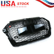 Fits Audi A3 S3 2017-2019 Rs3 Style Grille Front Hood Henycomb Bumper Grill