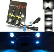 Led Kit G8 100w H9 8000k Icy Blue Two Bulbs Head Light Replacement Motorcycle Oe