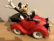 Extremely Rare Walt Disney Mickey Mouse Driving His Car Figurine Statue