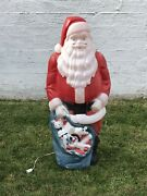 Vintage Empire Large Santa Lighted Blow Mold Large 46 Tall Tested And Working