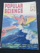 Popular Science Magazine August 1937 Inventions Wild Surfing Cover Fire-bug