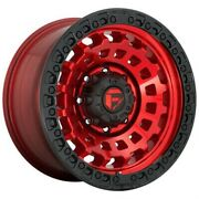 4 New 20x9 Fuel Zephyr Candy Red Black Bead Ring 8x165.1 D63220908250