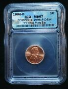1996-d Icg Enhanced Uncirculated Proof Lincoln Cent Penny Ms-67 2mpc6
