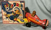 Vintage Marx Rollover Plane Excellent With Original Box Works Great Super Nice