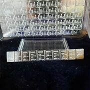 10 Grams .999 Silver-valcambi Free Vial Of Gold Flakes.from Usa Silver Bullion