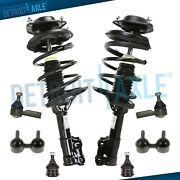 Front Struts Lower Ball Joints Sway Bars Outer Tierods For 01-06 Hyundai Elantra