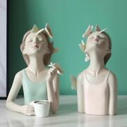 Fairy Butterfly Sculpture Resin Desktop Statues Creative Characters Figure Gift