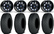 Fuel Lethal Blue 15 Wheels 35 Coyote Tires Kawasaki Mule Pro Fxt