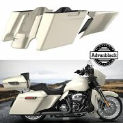Morocco Gold Pearl Extended Bags Stretched Saddlebag Side Cover For 2014+ Harley