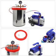 3 Gallon Vacuum Chamber Degassing Silicone And 3cfm Single Stage Pump Air Ac Kit
