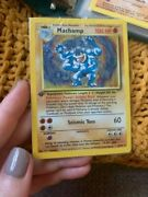 Pokemon Cards From The 90s First Edition Machamp And Promo Card Included