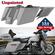 Advanblack Unpainted Extended Bags Stretched Saddlebag Side Cover For 14+ Harley
