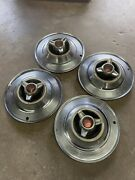 1964 Plymouth Sport Fury Hubcap Set Spinner All 4 Oem