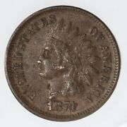 Raw 1874 Indian Head 1c Uncertified Ungraded Us Copper Small Cent Coin