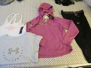 New Womens Under Armour 4pc Outfit Realtree Hoodie+capri+tank+tee Md Free Ship