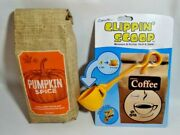 Grand Kaffe Pumpkin Spice Roasted Coffee And Clippinand039 Scoop 2 Tbs Clip Gift New