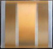 Peter Mack Stripes One Acrylic On Canvas With Clear Vinyl Overlay Signed L.r
