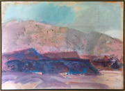Suzanne Martyl Neuf Mexico Paysage Huile Sur Toile Signandeacutee